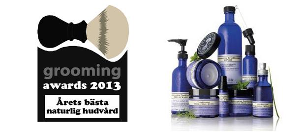 grooming awards naturlig hudvård